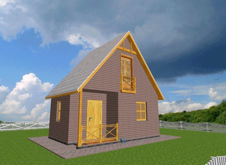 Дачный дом 6х6 одноэтажный