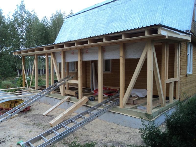 Пристройка деревянному дому своими руками